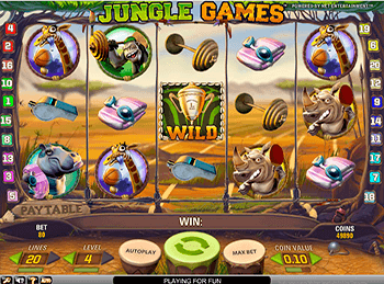 Скриншот Jungle Games